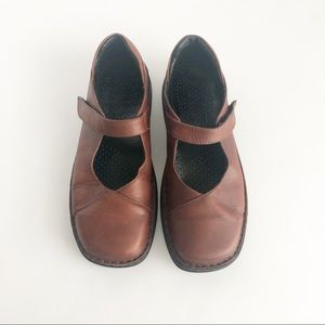 Josef Seibel brown leather Mary Janes